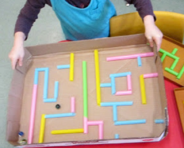 Maze Made From Drinking Straws