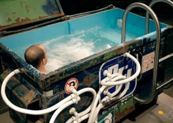 Refuse Skip made into Hot Tub
