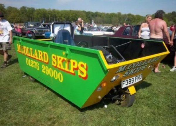 Refuse Skip made into Car