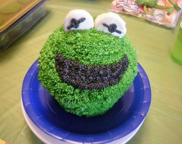 Kermit the Frog Giant Cupcake