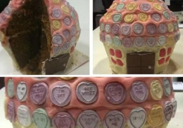 Conversation Hearts Giant Cupcake