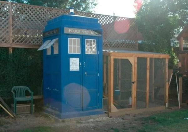 TARDIS chicken coop