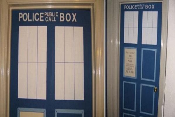 TARDIS Door Stickers