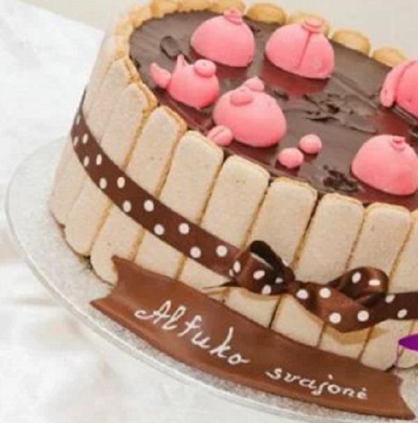 Charlotte Style (Sponge Finger) Pigs in mud Cake