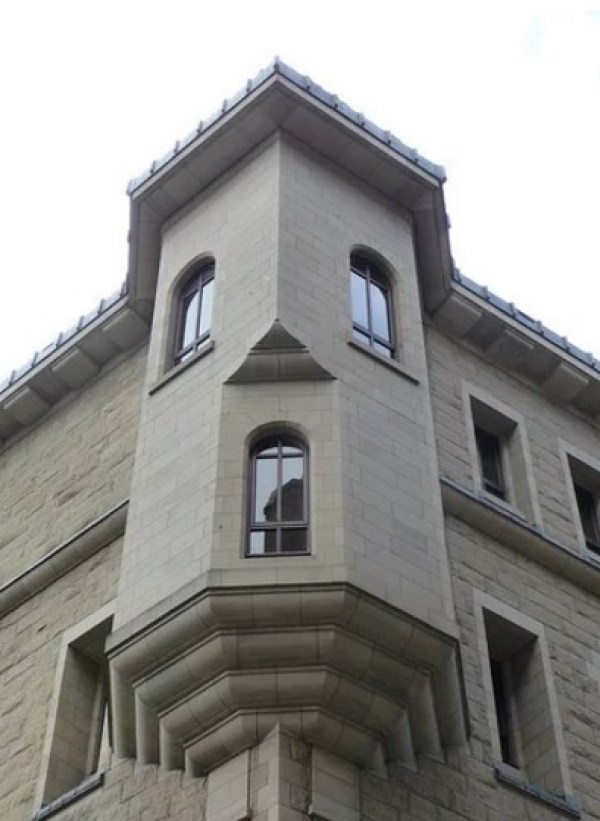 Corner of Building With a Face