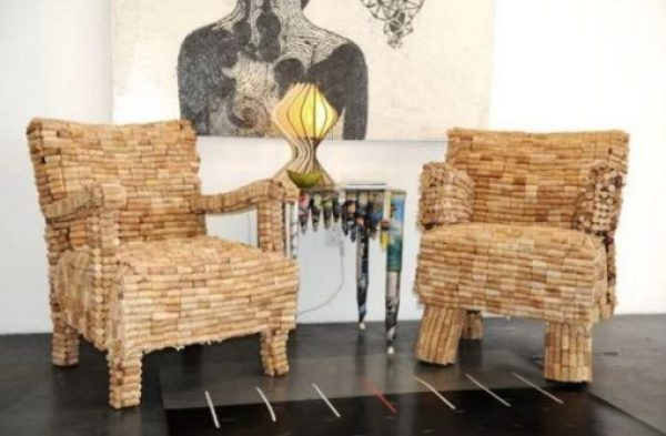 Chairs made with Corks