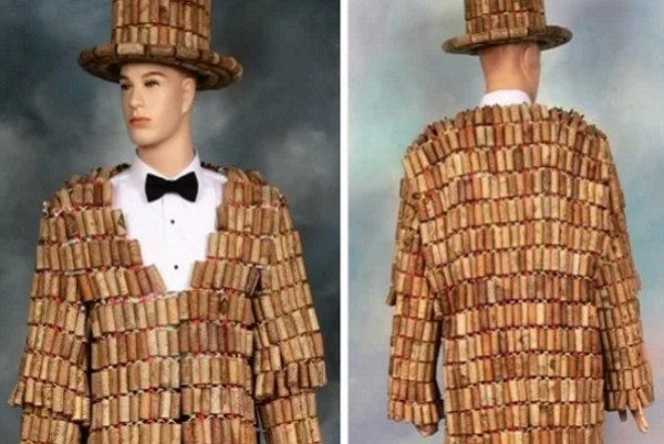 Suit made with Recycle Wine Corks