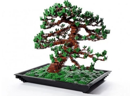 Bonsai Tree Turned into Lego