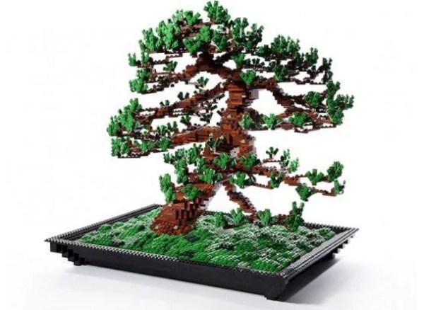 Bonsai Tree Turned into Lego