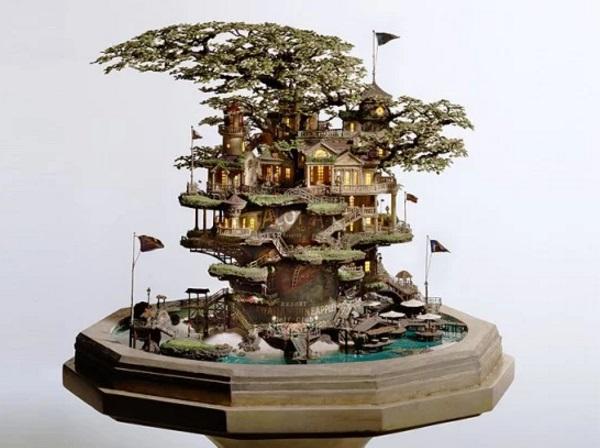Bonsai Tree Turned into a Living World
