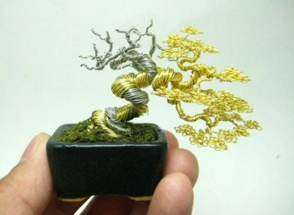 Bonsai Trees Made From Wire