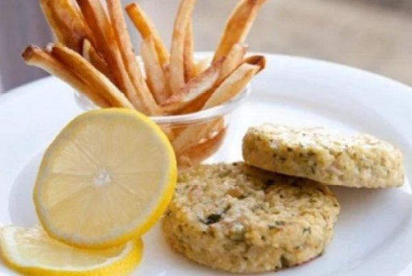 Tuna Cakes with Scallions and Lemon