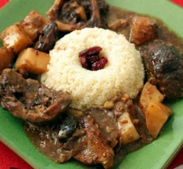 Slow Cooked Veal with Couscous
