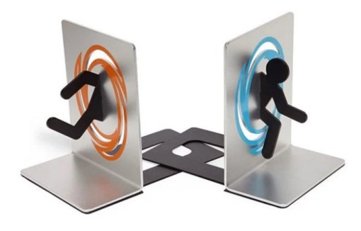 Portal 2 Inspired bookends
