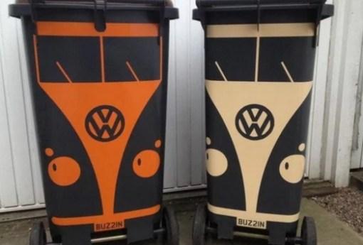 Volkswagen Campervan styled Bin Stickers