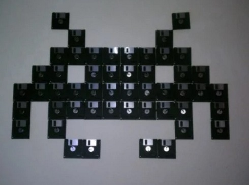 Diskette wall art
