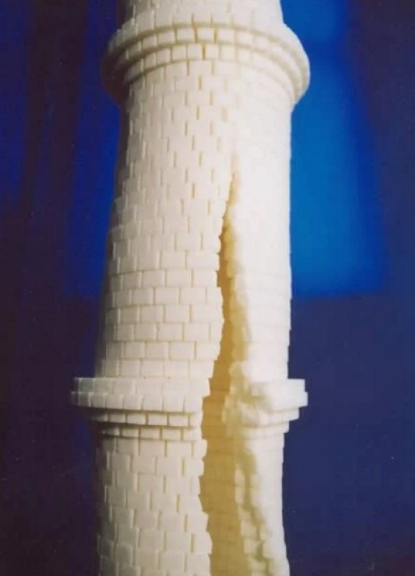 Castle made from sugar cubes