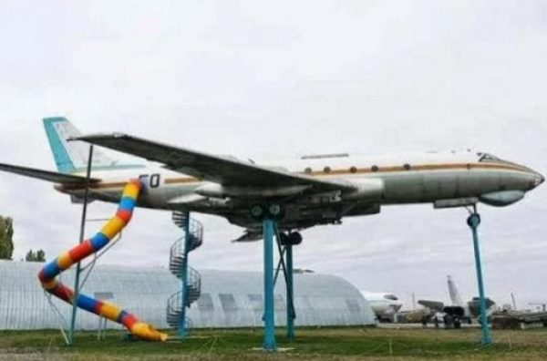 Airplane turned into play park