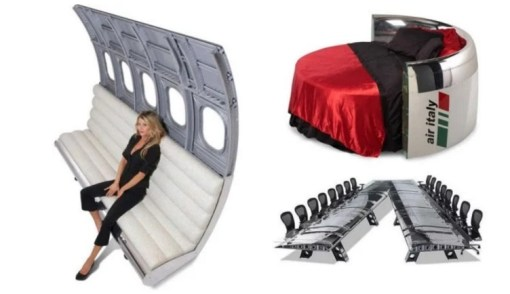 Airplane turned into Furniture