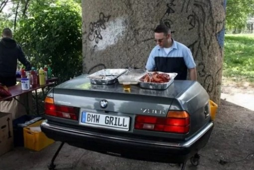 BMW Inspired BBQ Grill