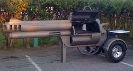 Magnum Revolver Inspired BBQ Grill