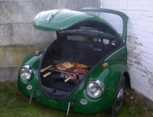 Volkswagen Beetle Inspired BBQ Grill
