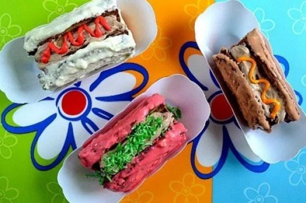 Birthday cake hot dogs
