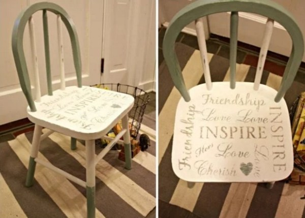 inspirational inspired wooden painted chair