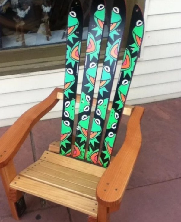 Kermit the Frog inspired wooden painted chair