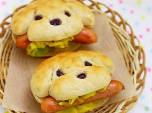 Hot dog that look like dog