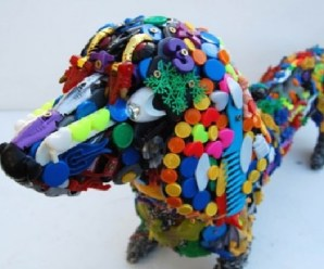 Ten Amazing Dog Sculptures Made From Recycled Plastic Toys