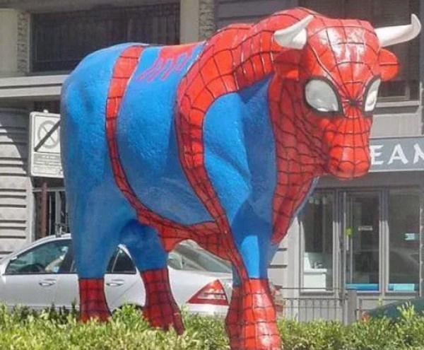 Cow Looks like Spider-Man