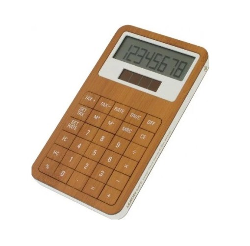 Calculator made of bamboo