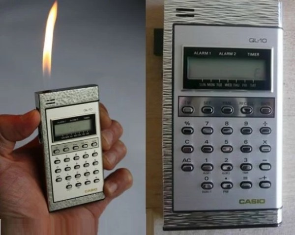 Calculator that is also a lighter