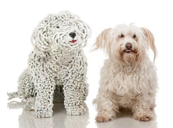 Dog Made of Bicycle Chains