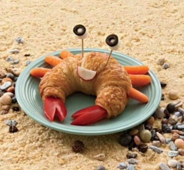 Crab Made from a croissant