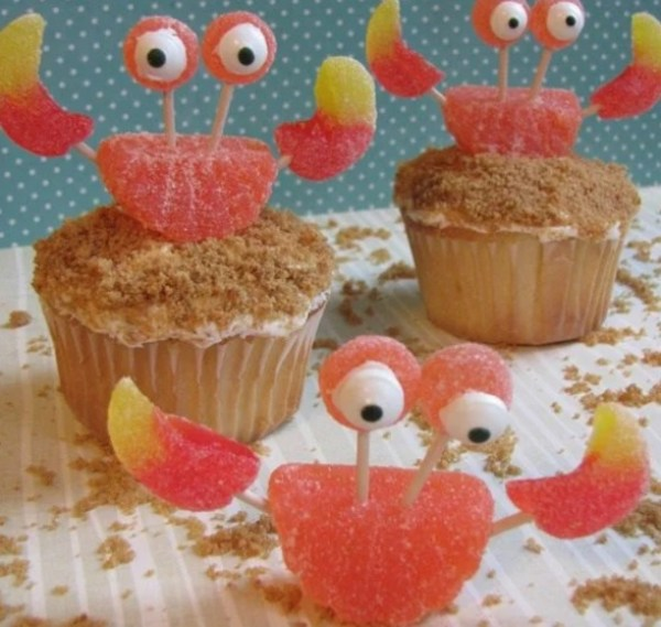 Crab shaped Cupcakes