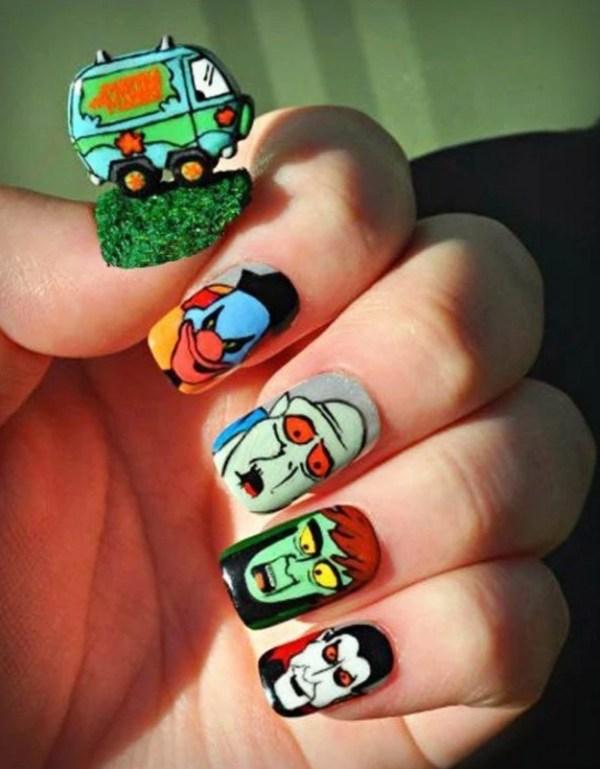 Scooby Doo Nail Art