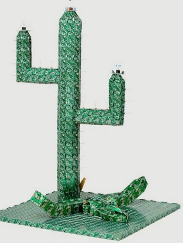 Cactus made with Printed circuit boards (PCB)