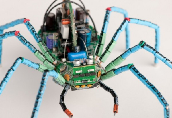 Spider made with Printed circuit boards (PCB)