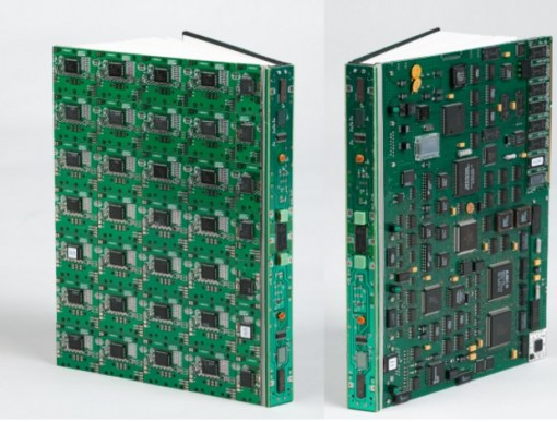 Book Cover made with Printed circuit boards (PCB)