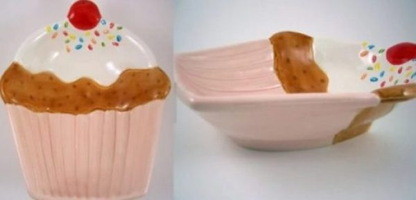 Cupcake Inspired Food Bowls