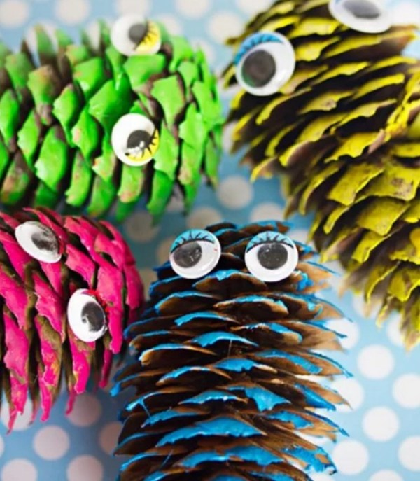 Pinecone Monsters