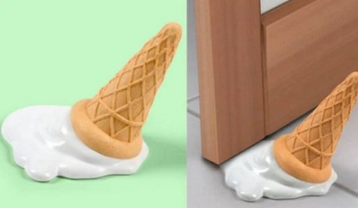A door stop that looks like an ice-cream