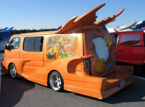 Donald Duck themed Modified Japanese Van