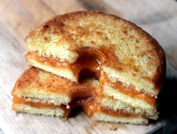 Doughnut Grilled Cheese Sandwich