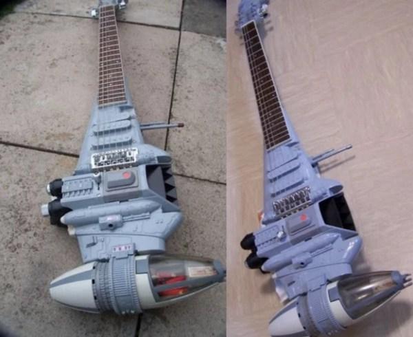 """B"" Wing Fighter Custom Made Guitar"