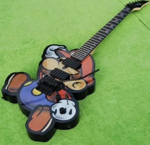 Super Mario Custom Made Guitar