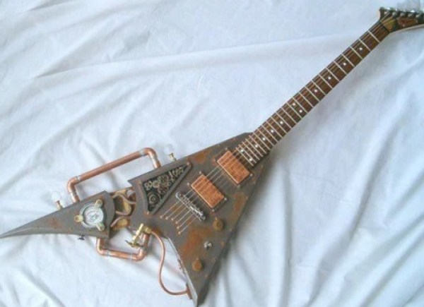 Steam-Punk Custom Made Guitar