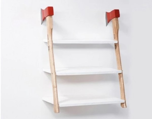 Axe Inspired Book Shelf
